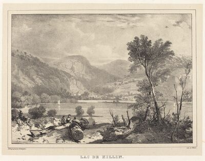 Richard Parkes Bonington after Francois Alexandre Pernot, 'Lac de Killin', 1826