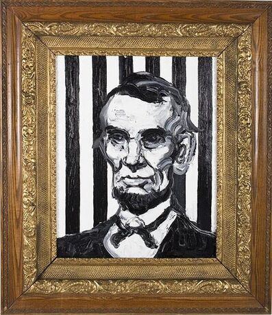 Hunt Slonem, 'Abraham Lincoln', 2019