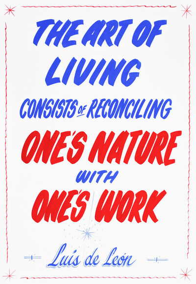 Christine Hill, 'The Art of Living Consists of Reconciling One's Nature with One's Work (Luis de Leon)', 2012