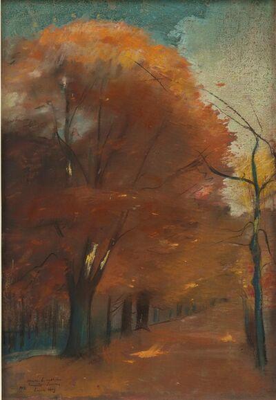 Lesser Ury, 'Allee im Berliner Tiergarten (Rote Allee)', 1902