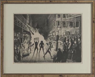 "Glenn O. Coleman, '""Election Night Bonfire""', 1928"