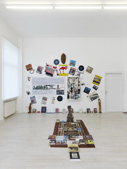"""Georges Adéagbo, ' """"Les artistes et l'écriture""""..!', 2014"""