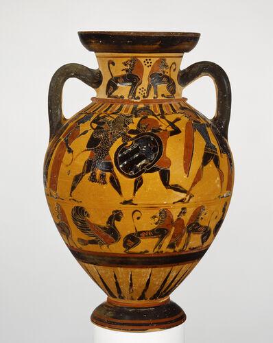 'Black-Figure Neck Amphora',  about 570 -560 B.C.