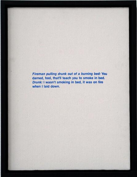 Richard Prince, 'Untitled (Fireman Joke)', 1987