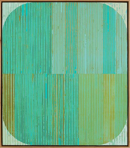 Sunny Taylor, 'Oval with Aqua', 2016