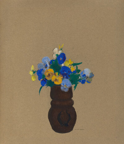 Odilon Redon, 'Pansies', ca. 1905