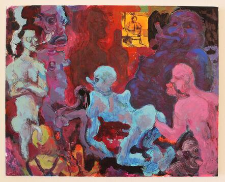 Richard Hawkins, 'Handball Blue', 2015