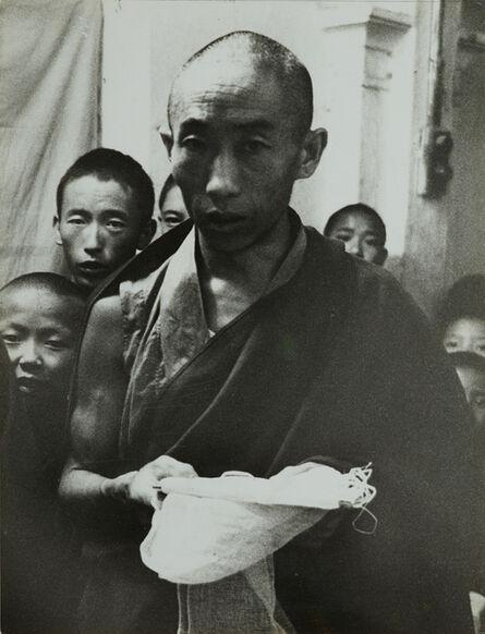 Germaine Krull, 'Tibetan religious ceremony offering of the white scarf', c. 1960