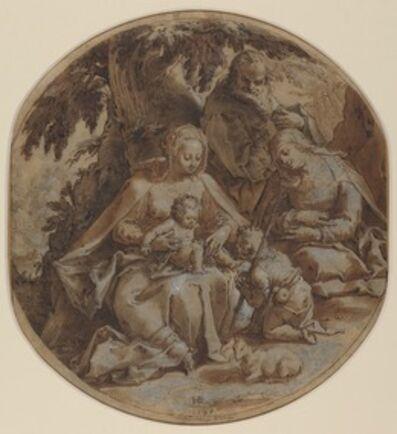 Hendrik Goltzius, 'The Holy Family with Saint Elizabeth and Saint John the Baptist', 1595