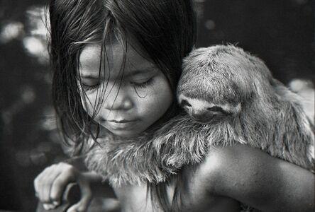 Araquém Alcântara, 'Brasileiros, Indian child with sloth, Cruzeiro do Sul, Acre, Brazil', 2013