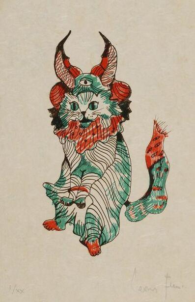 Leonor Fini, 'Cat with horns', 1973