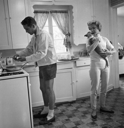 Sid Avery, 'Paul Newman and Joanne Woodward in their Beverly Hills home', 1958