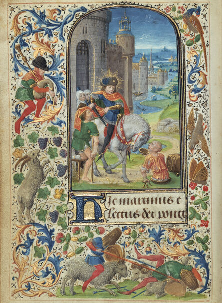 Lievan van Lathem, 'Saint Martin Dividing his Cloak', 1469