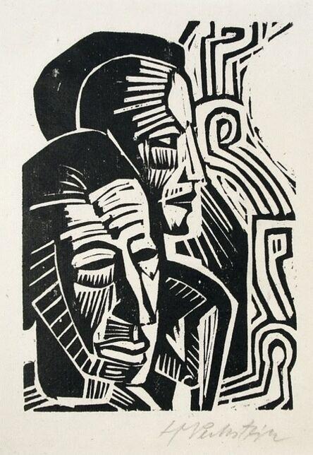 Max Pechstein, 'Two Heads (Zwei Kopfe)', 1922