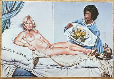 Mel Ramos, 'Signed Exhibition Postcard', 1974