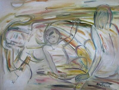 """Anita Roy Chowdhury, 'Mother & Child, Oil on Canvas by Modern Artist """"In Stock""""', 2006"""