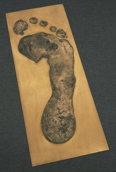 Jonathan Borofsky, 'Foot Print in Copper (right)', 1986