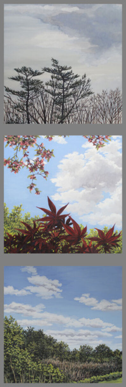 Vicki Kocher Paret, 'Clouds (triptych)', 2020