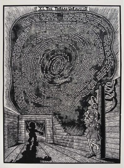 Jay Bolotin, 'XI. The Thread Unraveled              The Book of Only Enoch, 2011-2014 A portfolio of 20 woodcuts drawn and cut by Jay Bolotin over a 4 year period', 2011-2014