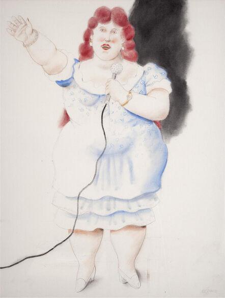 Fernando Botero, 'La cantante', 2010