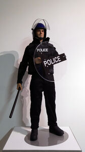 Eugenio Merino, 'Toy UK Riot Police', 2019