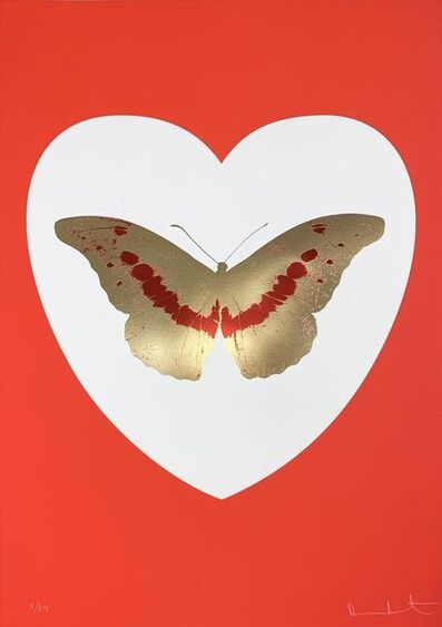 Damien Hirst, 'I Love You - White/Red/Cool Gold/ Poppy Red  ', 2015