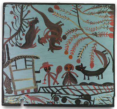 Mose Tolliver, 'Rainy Sunshine, Cats and Dogs, Drum Beater', 1967