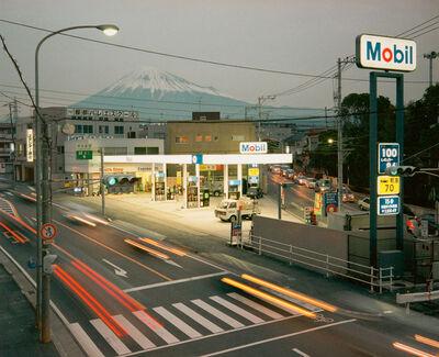 Chris Steele Perkins, 'From a footbridge, Fuji City', 1999