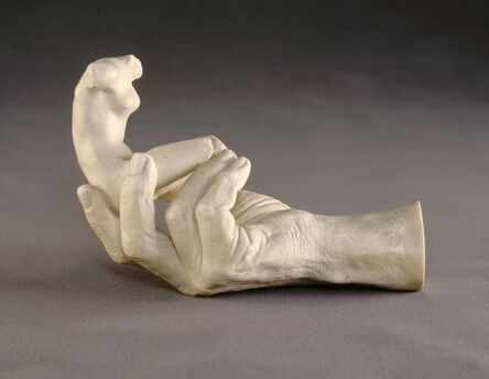 Auguste Rodin, 'Hand of Rodin with a Female Figure', 1917