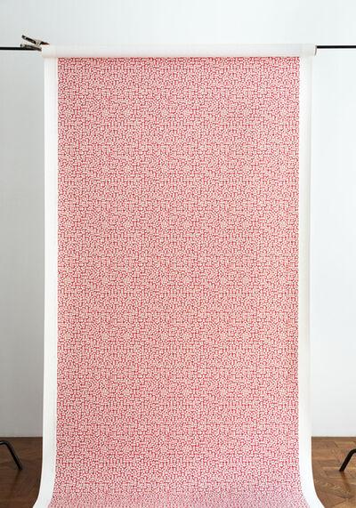 Anni Albers, 'E Wallpaper in red (186 U)', 2019