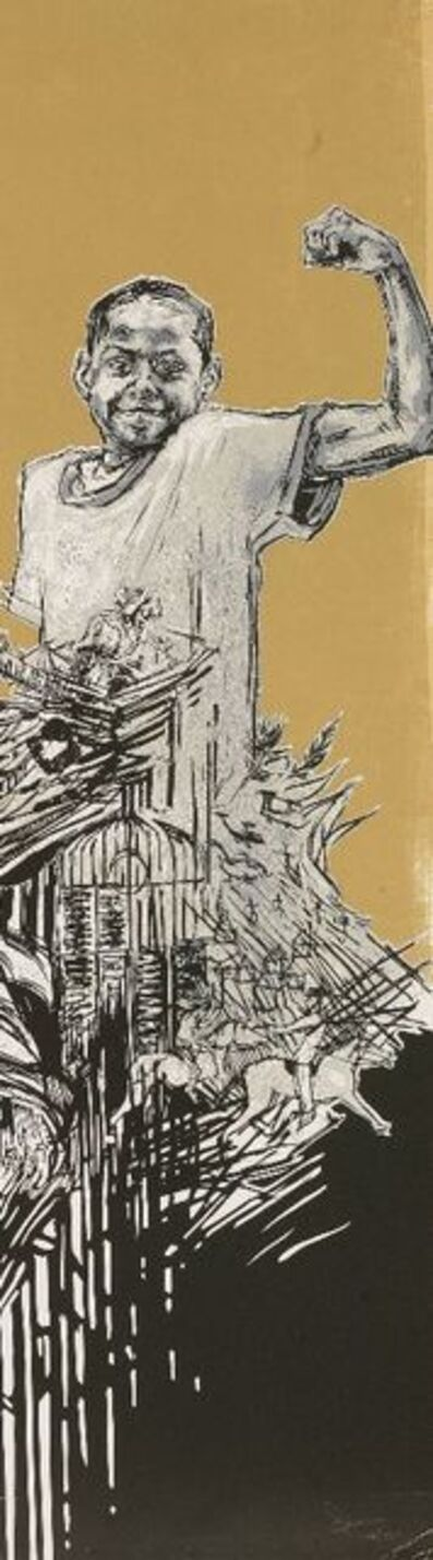 Swoon, 'Boy (Stong)', 2007