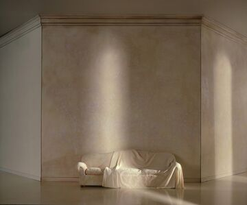 Charles Matton, 'A White Draped Couch in a White Space', 1987