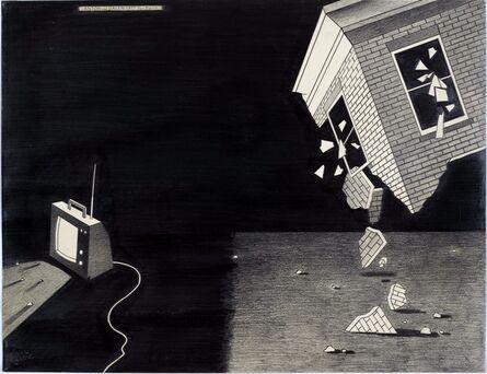 Anton van Dalen, 'Falling House and TV', 1977