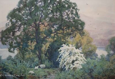 Alfred Heaton Cooper, 'Oaks and White - Hawthorn, Windemere', ca. 1895