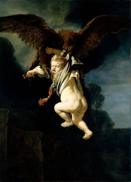 Rembrandt van Rijn, 'Ganymede in the Claws of the Eagle', 1635