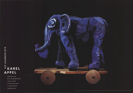 Karel Appel, 'Die Zauberflote (Magic Flute), Elephant', 1995