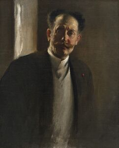 John White Alexander, 'Study of a Man (with moustache)', ca. 1980