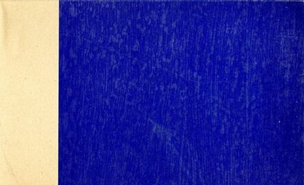 Yves Klein, 'Yves Klein Propositions Monochromes with IKB (International Klein Blue)', 1957