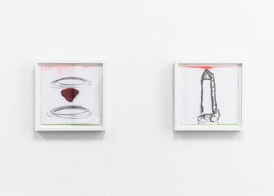 Rita McBride, 'Ruby / Demi Obelisk', 2018
