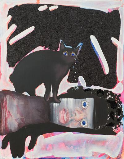 Devan Shimoyama, 'Black Kitty Chrystalline Tears Healing the Black Boy's Tainted Ears', 2015