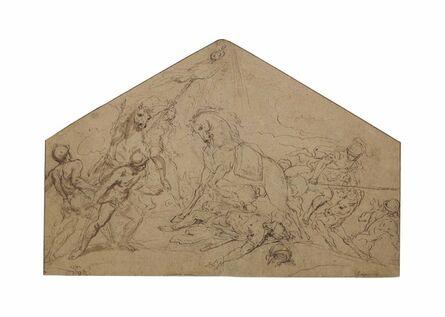 Guillaume Courtois,  il Borgognone, 'The Conversion of Saint Paul: Design for a Lunette'