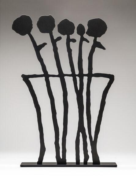 Donald Baechler, 'Black Flowers (sculpture)', 2019