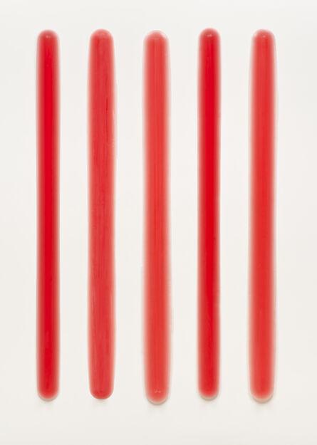Peter Alexander, 'Five Part Bars (Red)', 2013-2014