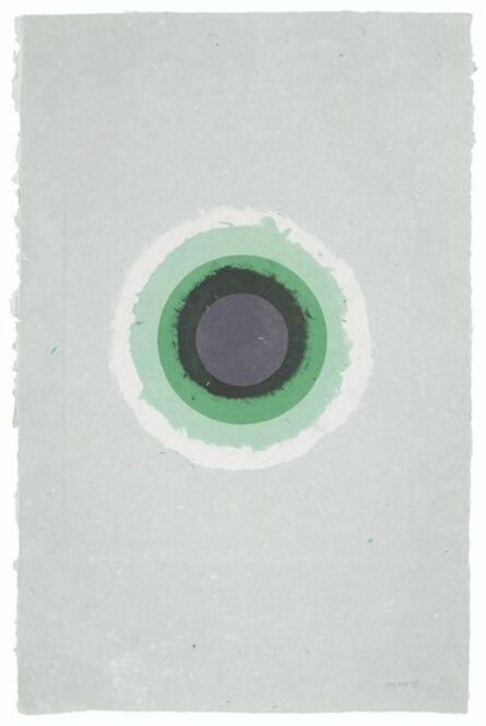 Kenneth Noland, 'Circle II-5 (from: handmade paper Project)', 1978