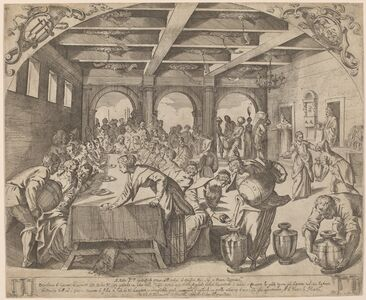 Odoardo Fialetti after Jacopo Tintoretto, 'The Marriage at Cana'