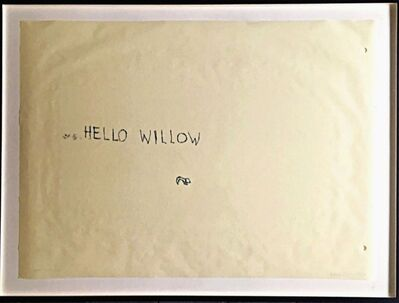 Tracey Emin, 'Hello Willow, from the Estate of Andy Warhol curator Tim Hunt and his widow, bestselling author Tama Janowitz', 1997