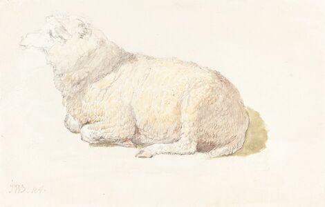 James Ward, 'A Sheep Resting', ca. 1800/1810