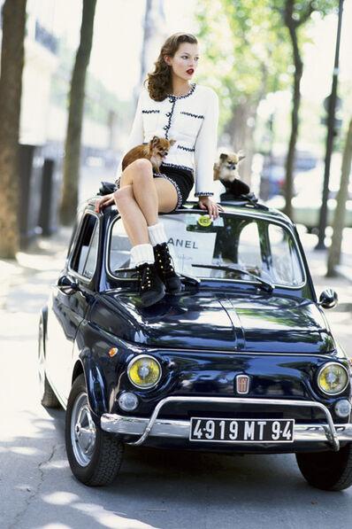 Arthur Elgort, 'Kate Moss on Fiat, Paris, VOGUE Italia', 1994