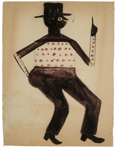 Bill Traylor, 'Untitled (Man Pointing Up)', ca. 1939-1942