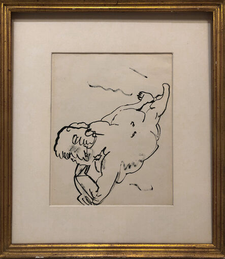 """Jules Pascin, 'Original Drawing """"Leaning Nude""""', Early 20th century"""